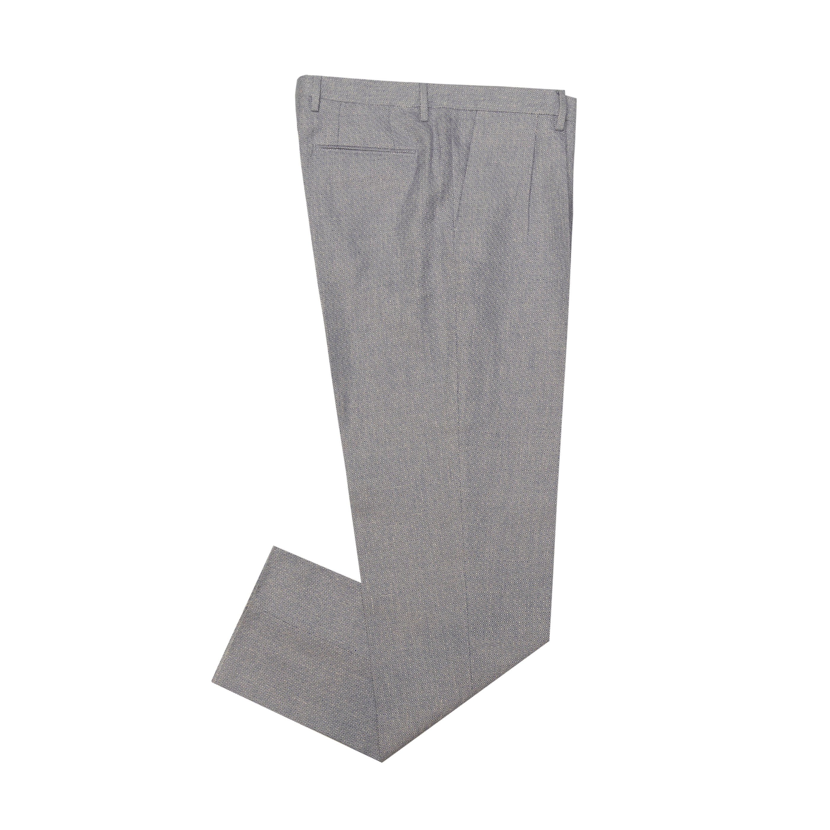 [GABRIELE PASINI] CHECK WOOL PANTS (BLUE)
