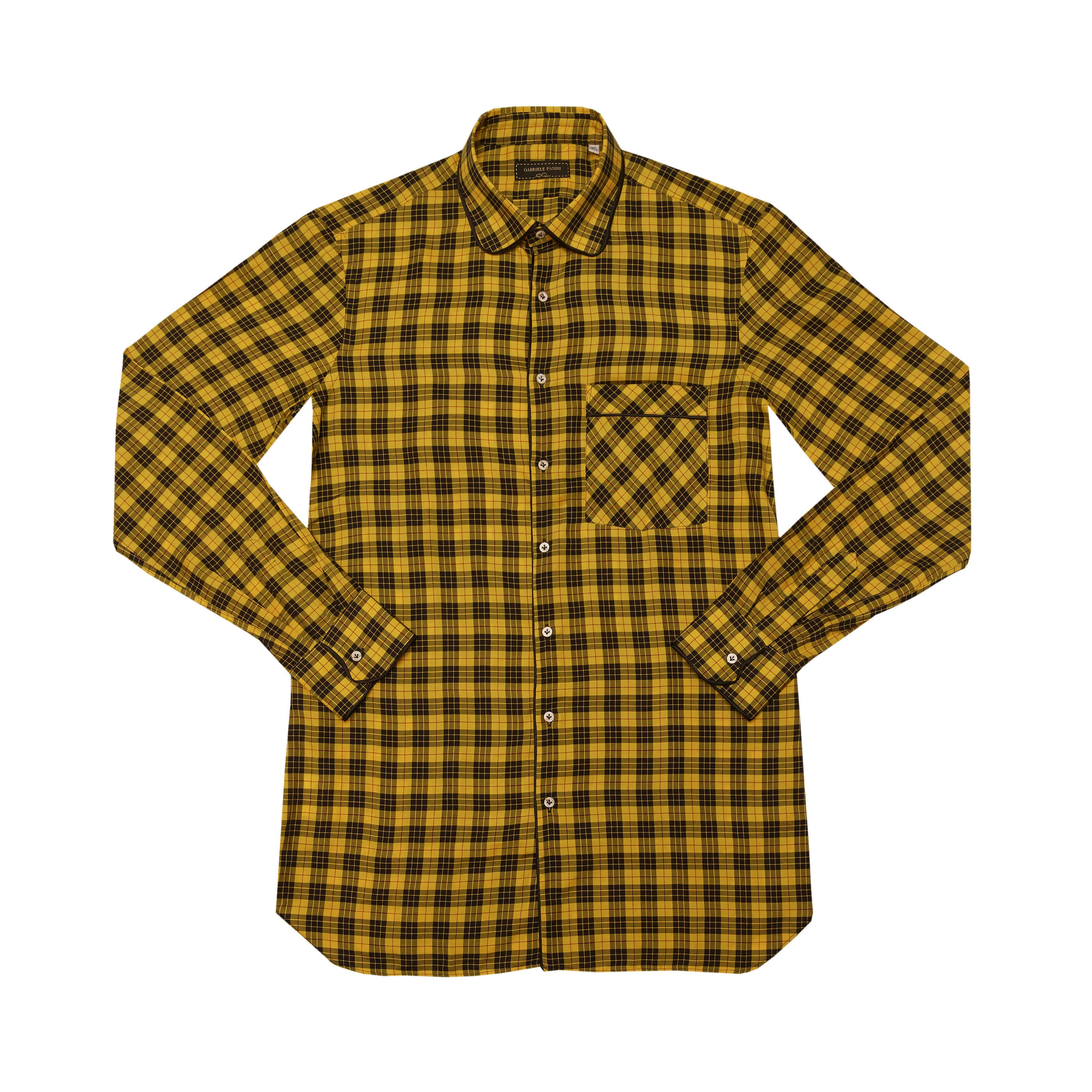 [GABRIELE PASINI] CHECK SHIRTS (YELLOW)