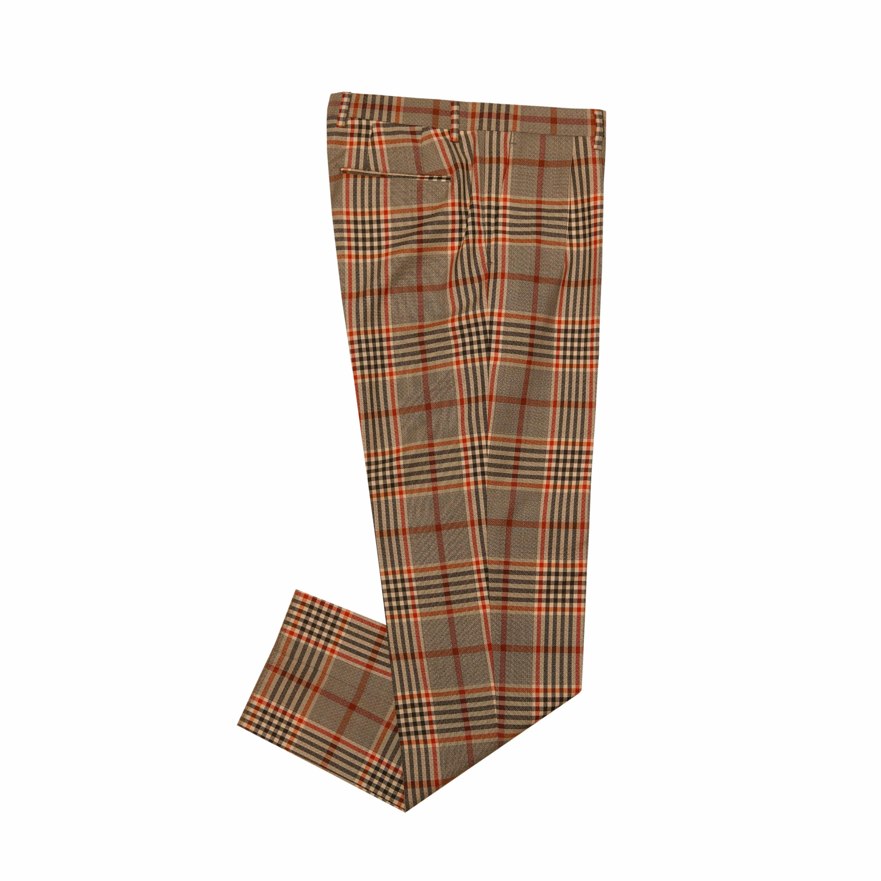 [GABRIELE PASINI] GLEN CHECK PANTS (BROWN)