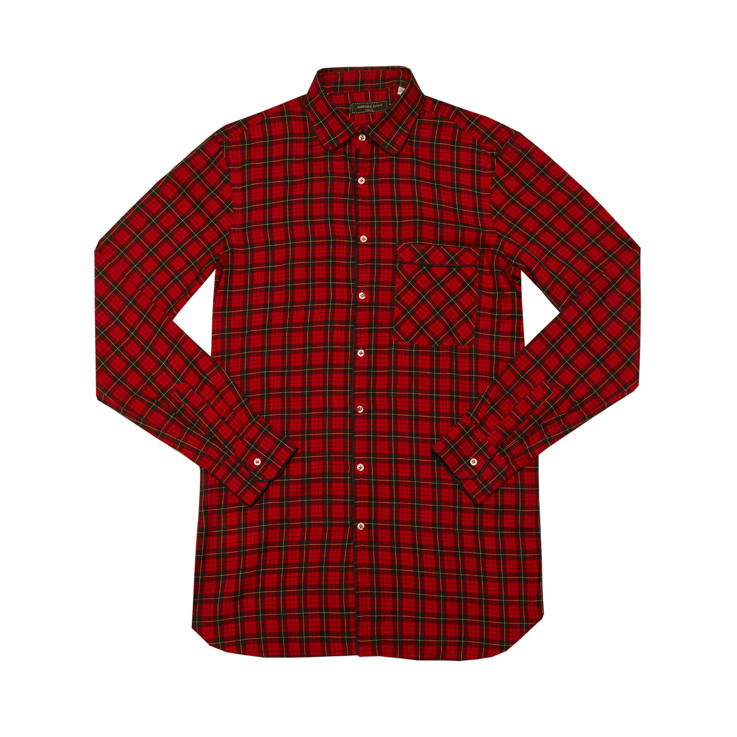 [GABRIELE PASINI] CHECK SHIRTS (RED)