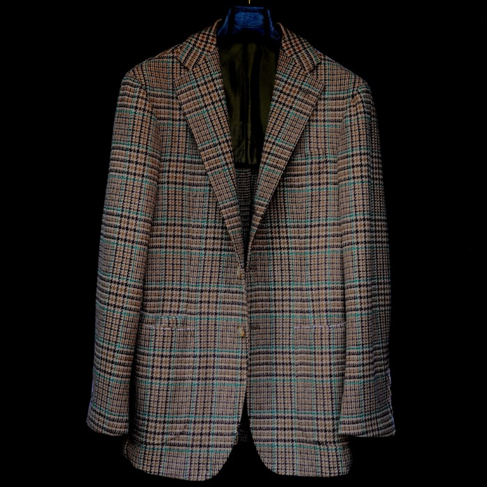 [GUERCILENA1944] GLEN CHECK JACKET (BEIGE)
