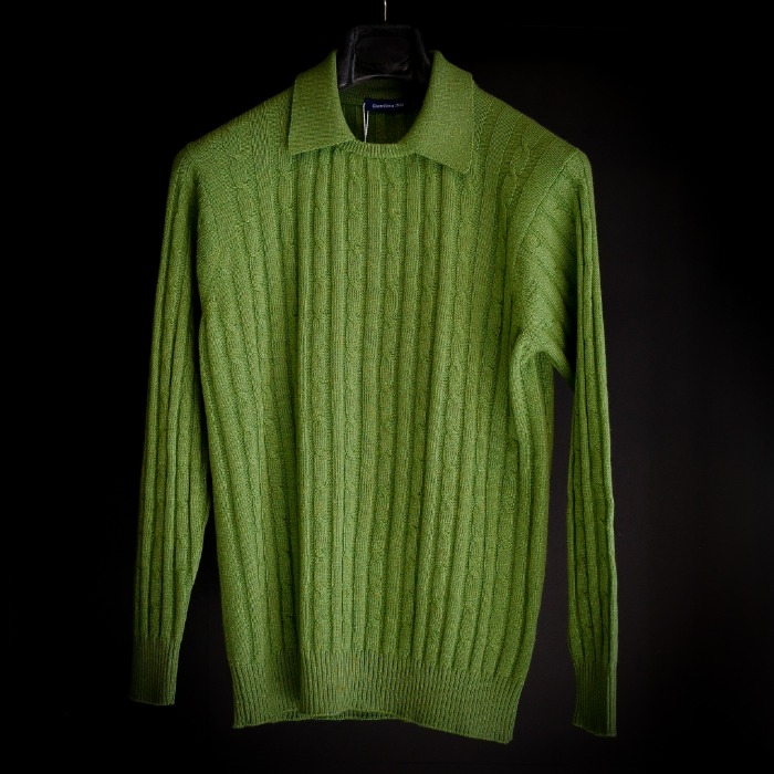 [GUERCILENA1944] COLLAR KNIT (GREEN)