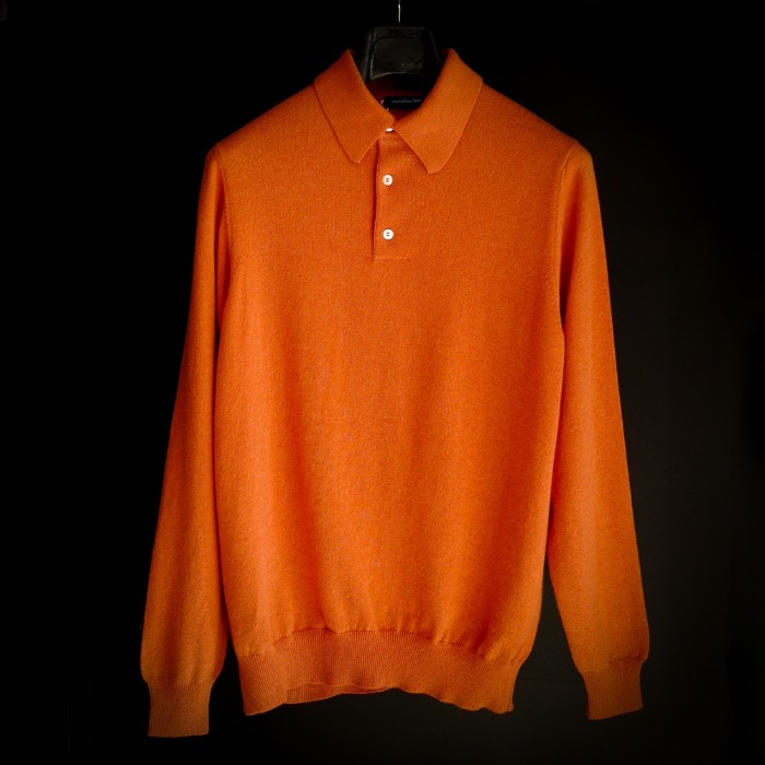 [GUERCILENA1944] POLO CREW NECK (ORANGE)