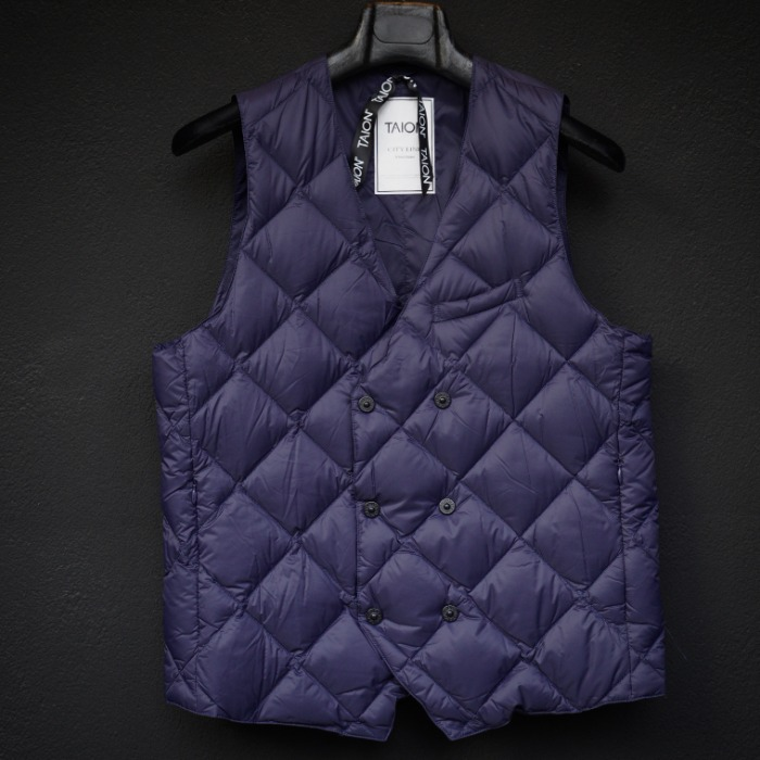 [TAION] DOUBLE VEST (NAVY)