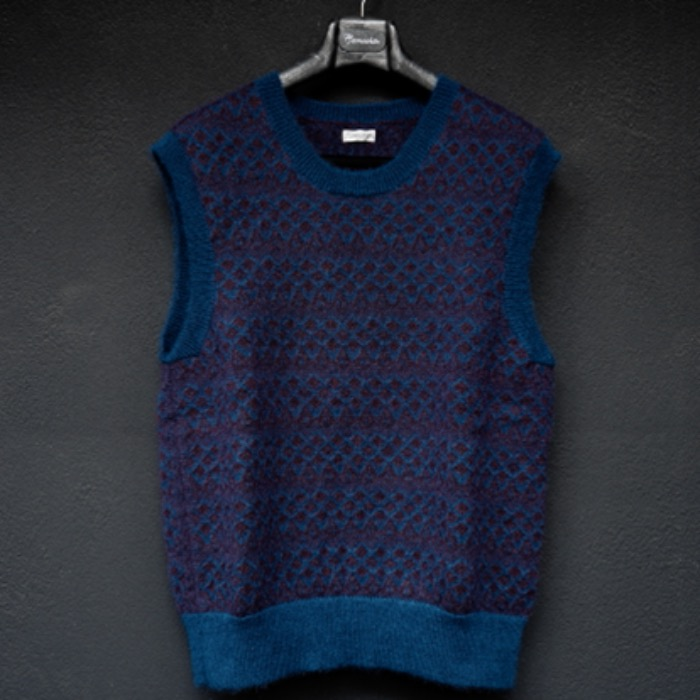 [CAMOSHITA] KNIT VEST (PURPLE)
