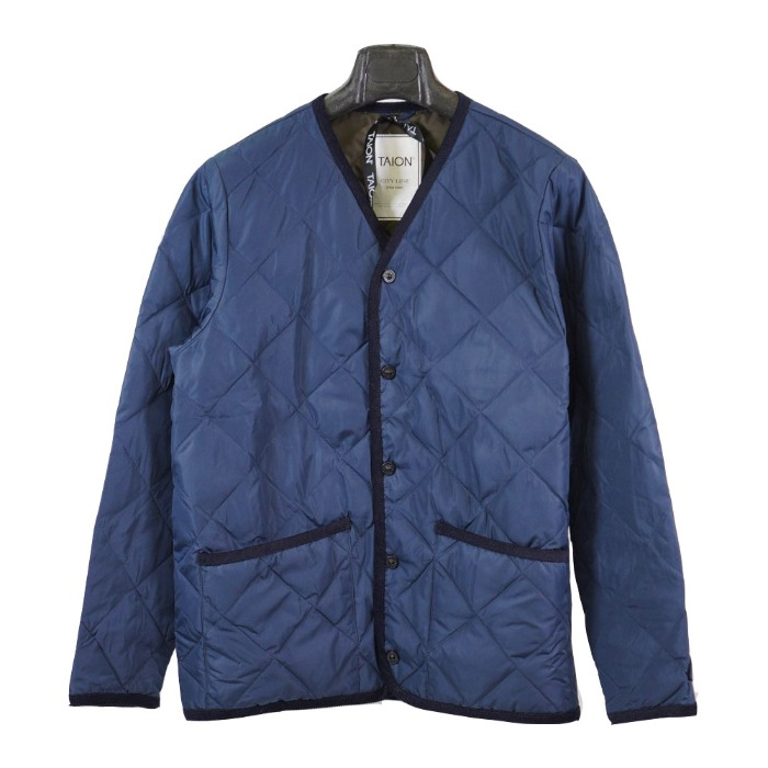[TAION] V NECK JACKET (NAVY)