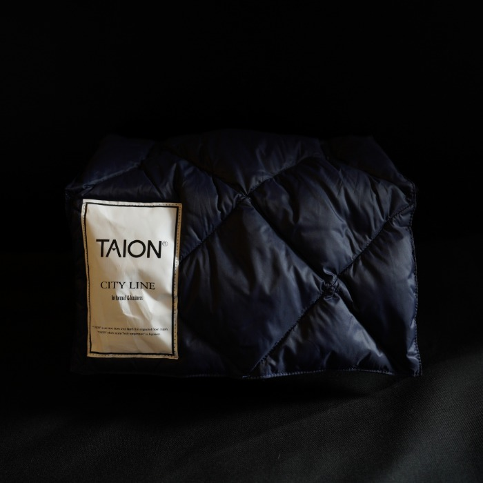 [TAION] SHORT DOWN MUFFLER (NAVY)