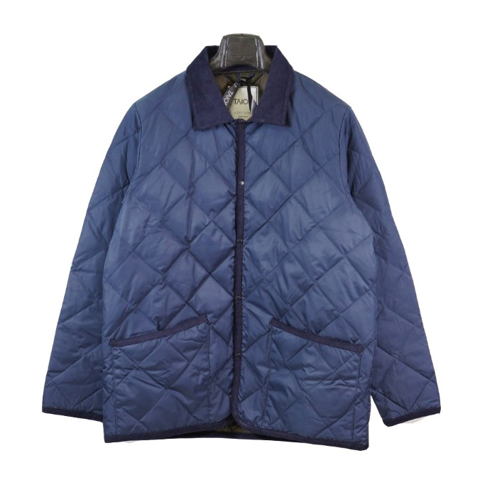[TAION] COLLAR JACKET (NAVY)