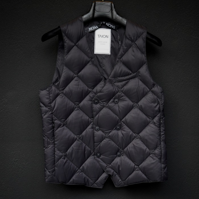 [TAION] DOUBLE VEST (BLACK)