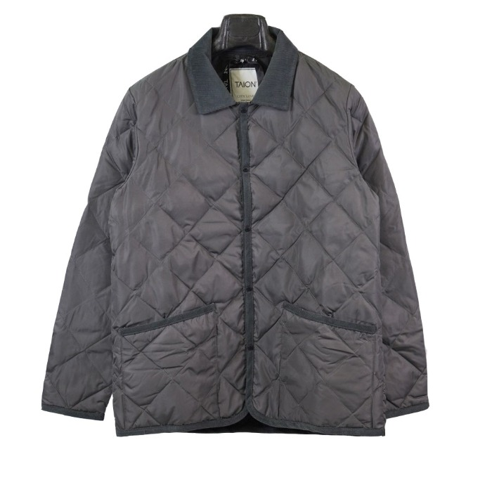 [TAION] COLLAR JACKET (GREY)
