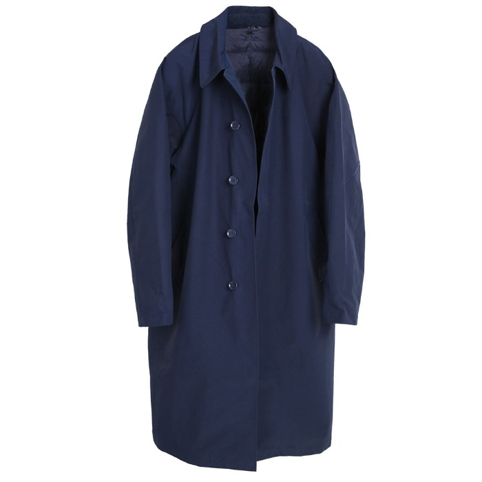 [TAION] COLLAR COAT (NAVY)