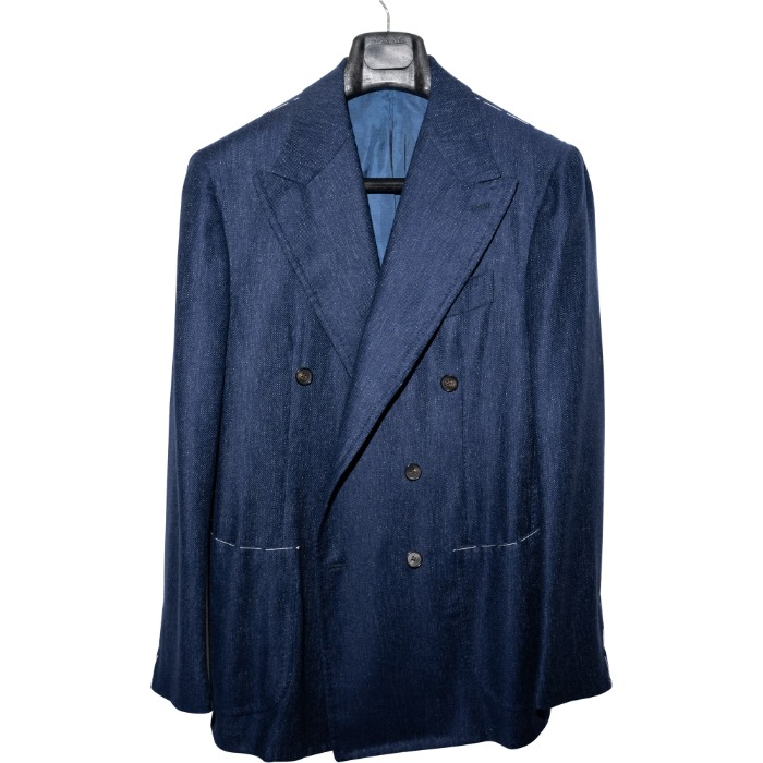 [GUERCILENA1944] DOUBLE BREASTED CASHMERE JACKET (NAVY BLUE)