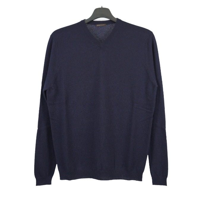 [STILE LATINO] CASHMERE           V-NECK KNIT (NAVY)