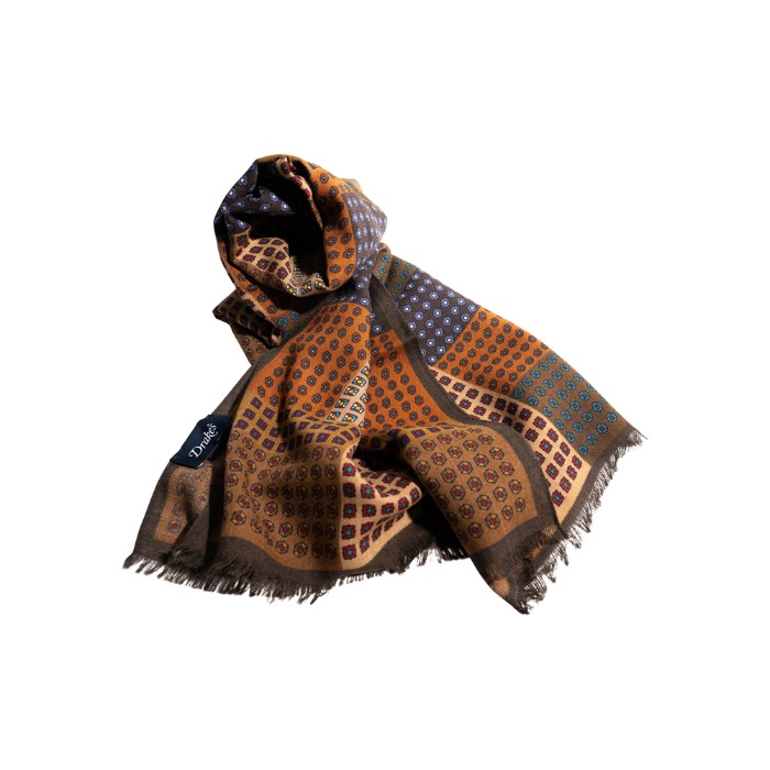 [DRAKE'S] WOOL SCARF (BROWN)