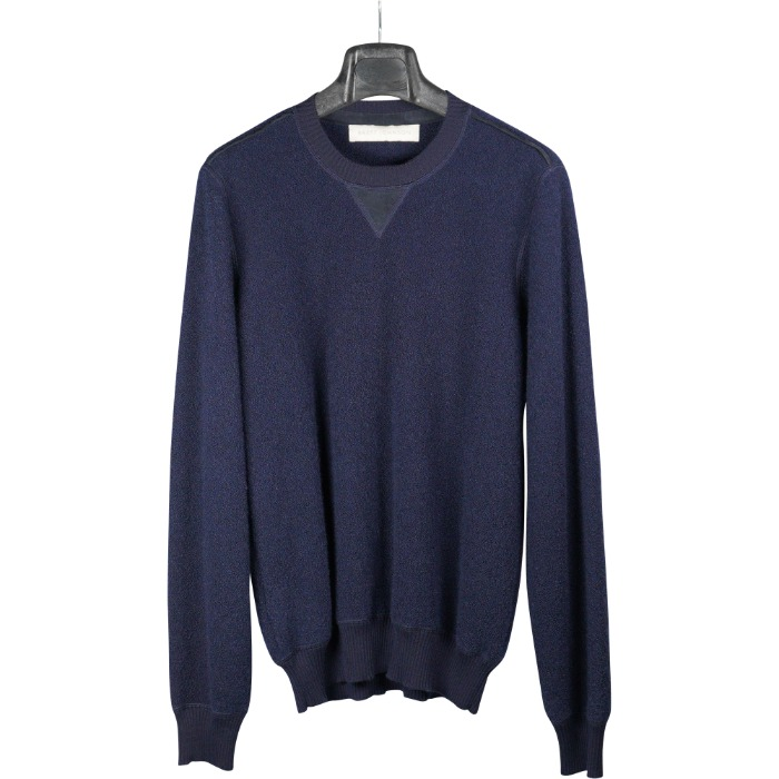 [BRETT JOHNSON] ROUND KNIT (NAVY)