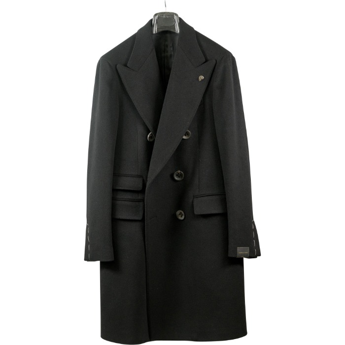 [GABRIELE PASINI] DOUBLE BREASTED COAT (BLACK)