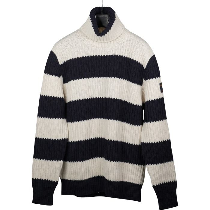 [PAUL&SHARK] FISHERMAN HEAVY TURTLENECK KNIT (WHITE&NAVY)