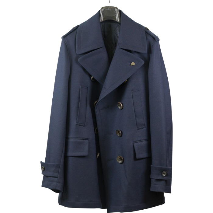 [GABRIELE PASINI] WOOL TRENCH COAT (NAVY)