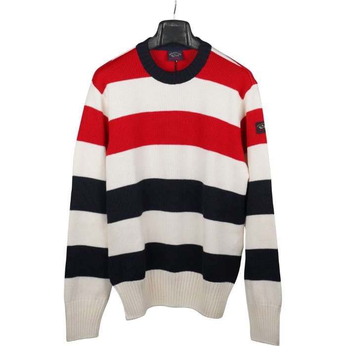 [PAUL&SHARK] FISHERMAN STRIPE KNIT (WHITE&RED)