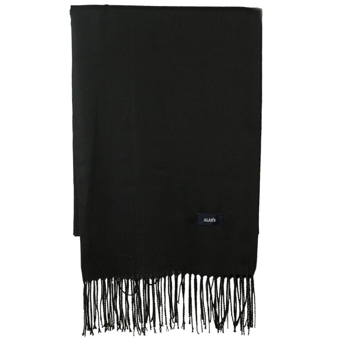 [ALAN'S] WOOL SCARF (BLACK)