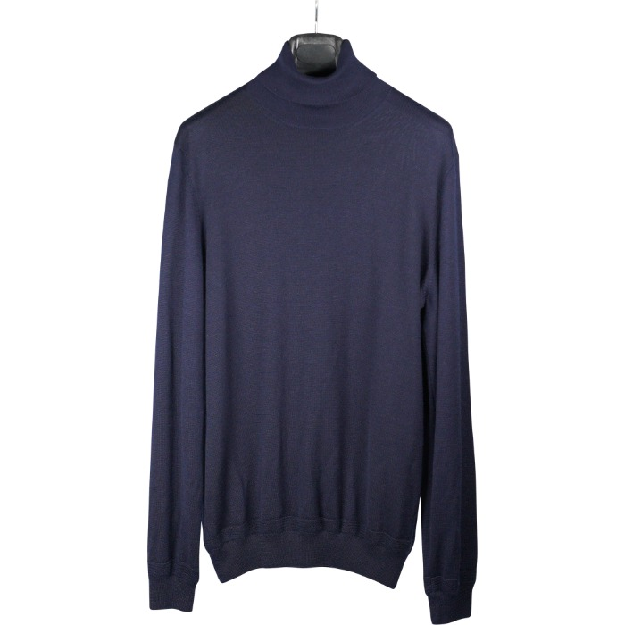 [BRETT JOHNSON] TURTLENECK KNIT (NAVY)