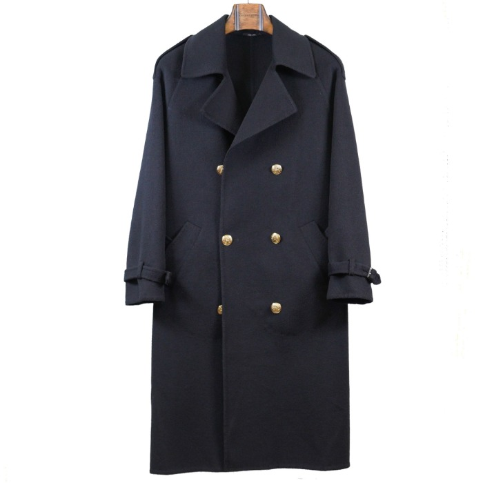 [STILE LATINO] DOUBLE BREASTED COAT FOR WOMAN (BLACK)