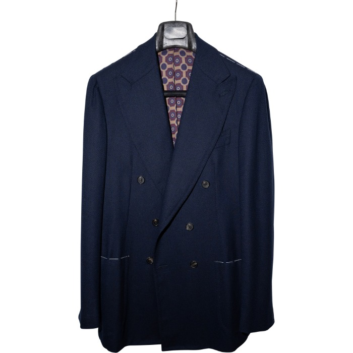 [GUERCILENA1944] DOUBLE BREASTED WOOL JACKET (NAVY)