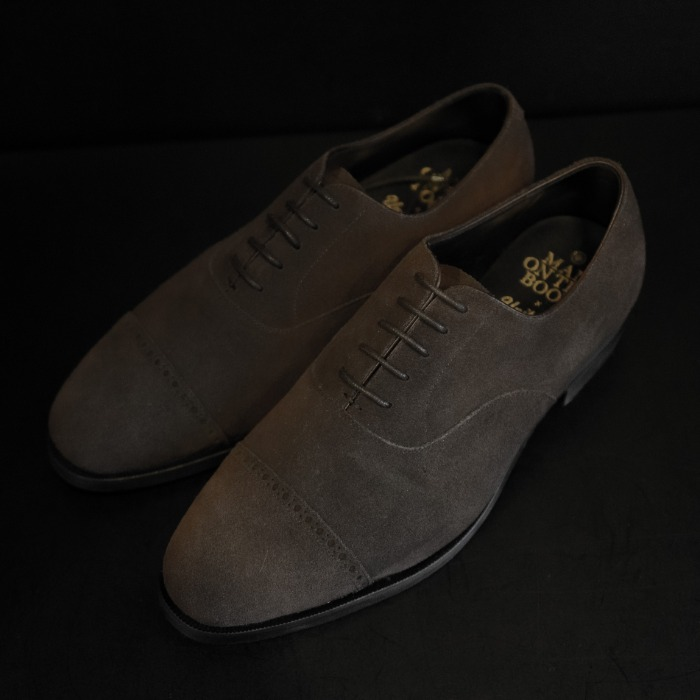 [MAN ON THE BOON] SUEDE CAP TOE (DARK BROWN)