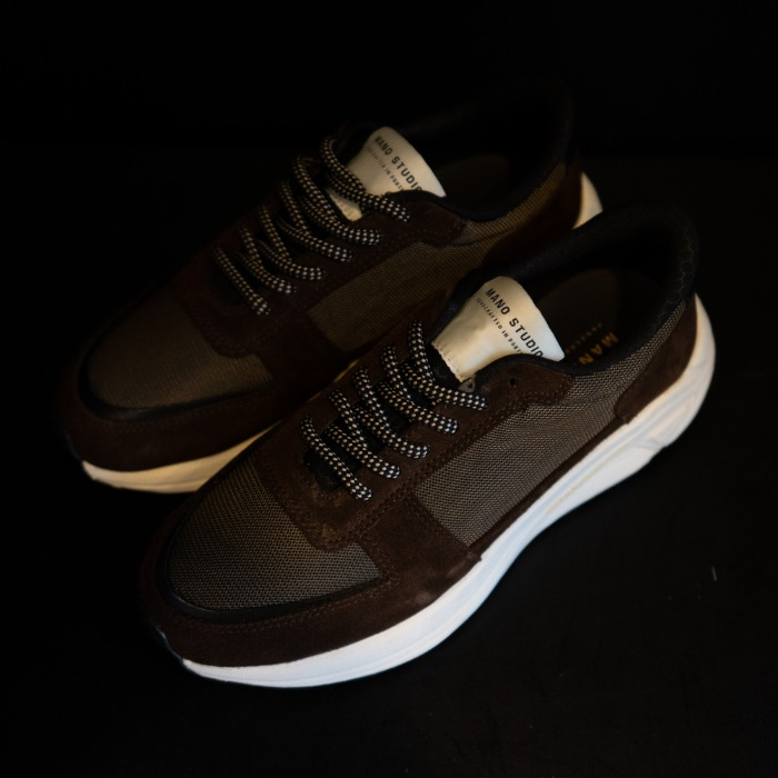 [MANO STUDIO] RUNNER SNEAKERS (CHOCOLATE)