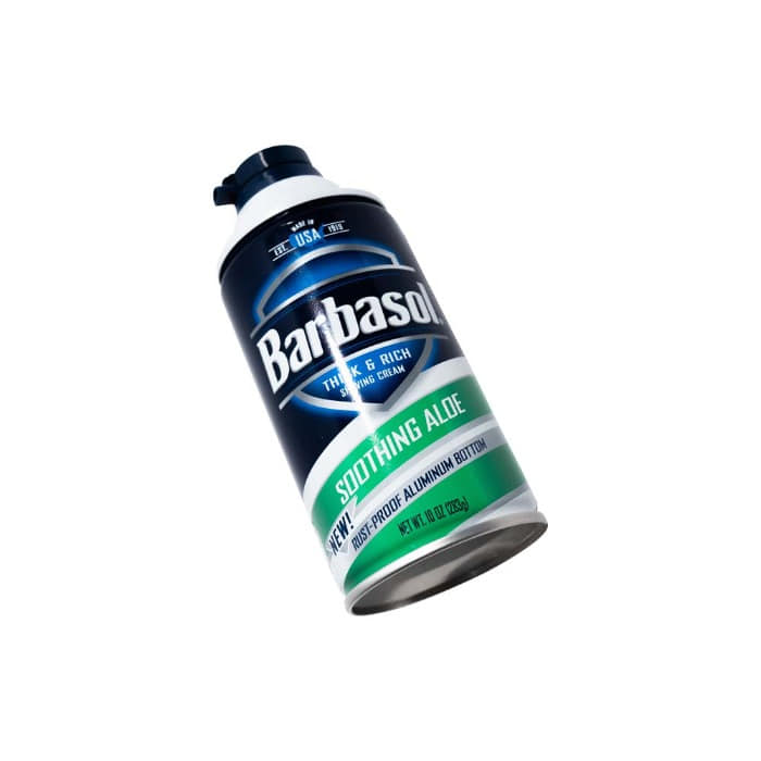 [BARBASOL] SHAVE CREAM (SOOTHING ALOE)