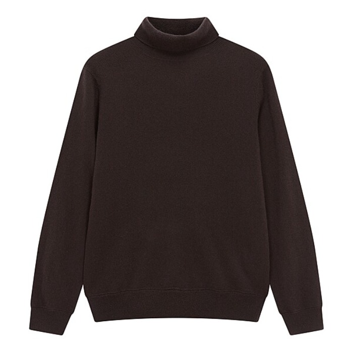 [MAN ON THE BOON] CASHMERE TURTLENECK (BROWN)