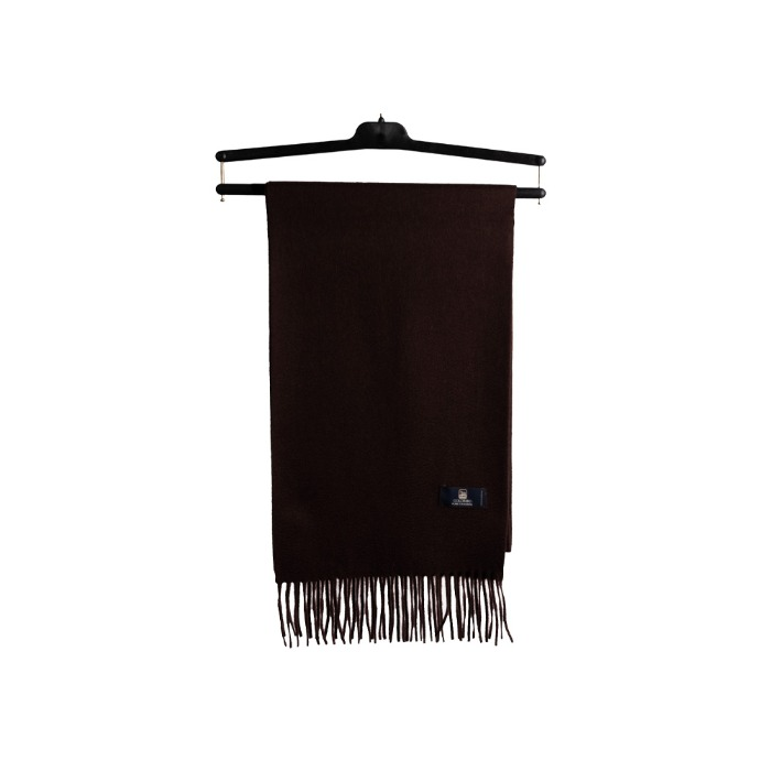 [COLOMBO] CASHMERE MUFFLER (DARK BROWN)