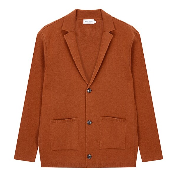 [MAN ON THE BOON] KNIT CARDIGAN (ORANGE)
