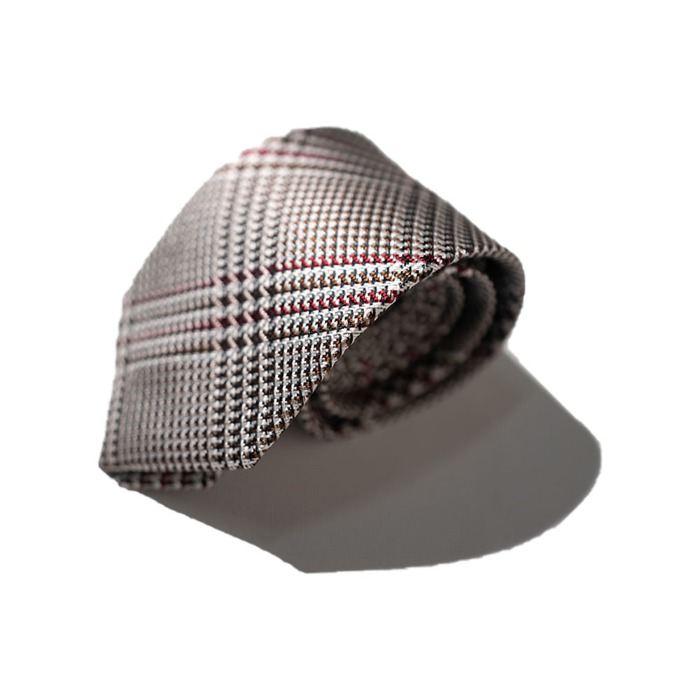 [ALAN'S] SILK TIE (CHECK)