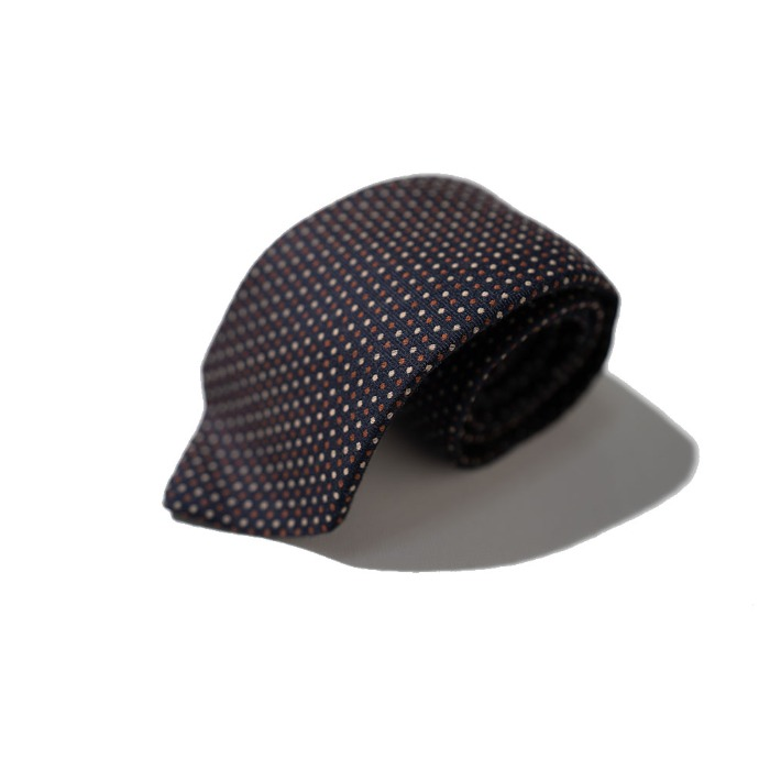 [ALAN'S] WOOL TIE (DARK NAVY)