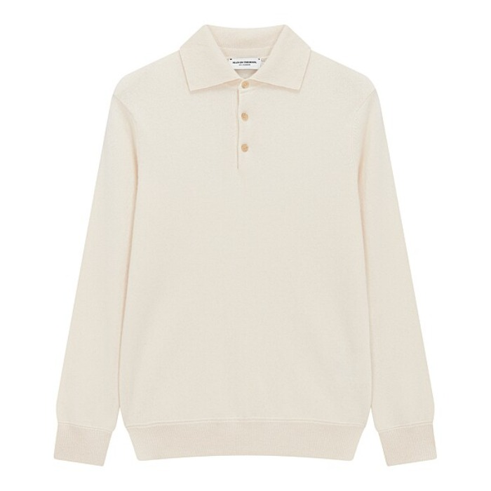 [MAN ON THE BOON] CASHMERE POLO NECK (IVORY)