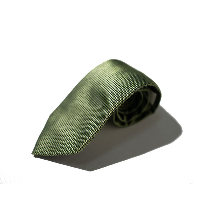 [ALAN'S] SILK TIE (GREEN)