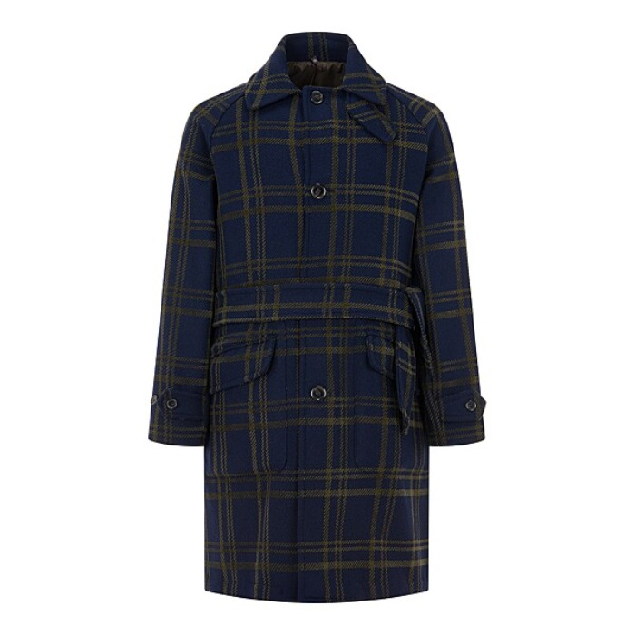 [MAN ON THE BOON] ROBE COAT (GREEN)