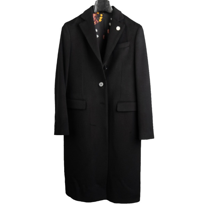 [LARDINI] WOMEN SINGLE CASHMERE  COAT (BLACK)