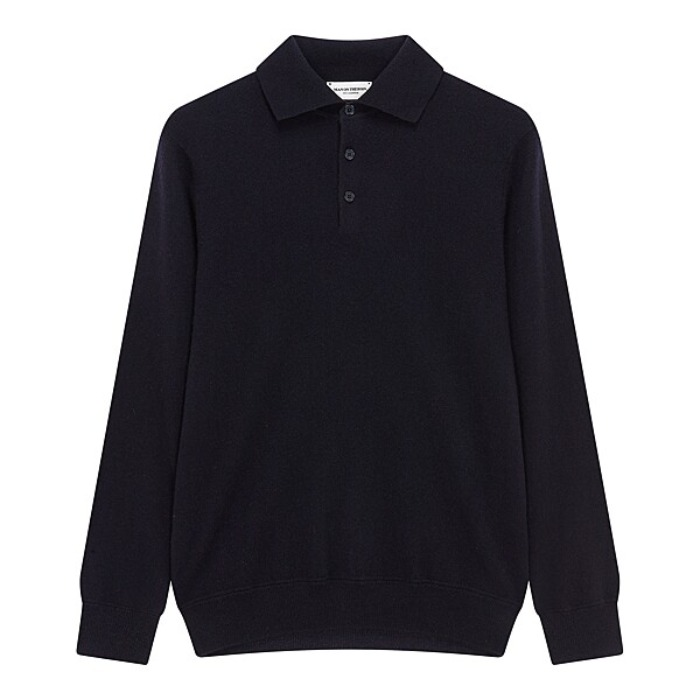 [MAN ON THE BOON] CASHMERE POLO NECK (NAVY)