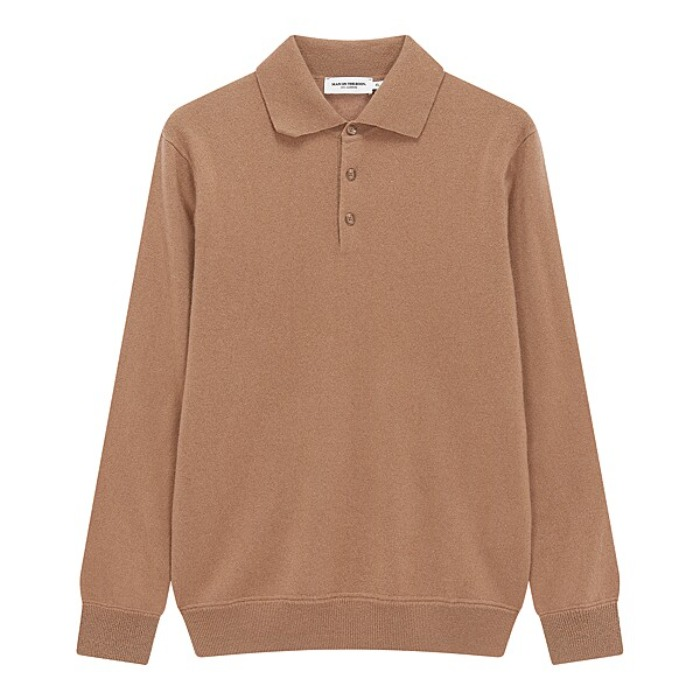 [MAN ON THE BOON] CASHMERE POLO NECK (BEIGE)