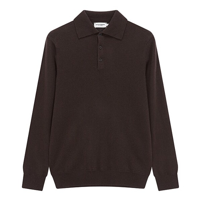 [MAN ON THE BOON] CASHMERE POLO NECK (BROWN)