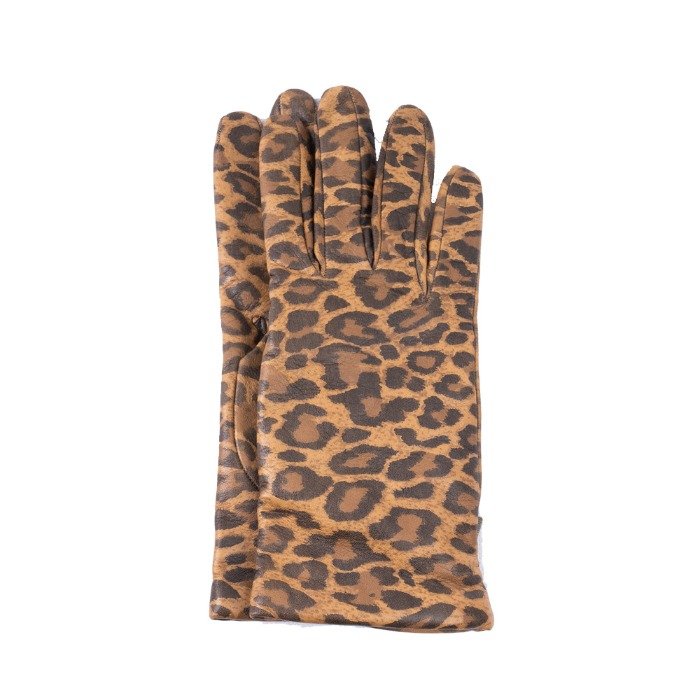 [ALPO] WOMAN LEATHER GLOVE (LEOPARD)