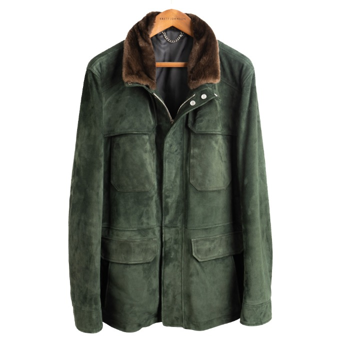 [BRETT JOHNSON] LEATHER JACKET (GREEN)