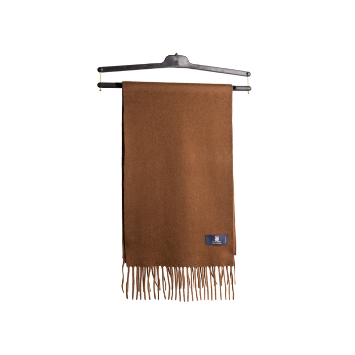 [COLOMBO] CASHMERE MUFFLER (LIGHT BROWN)