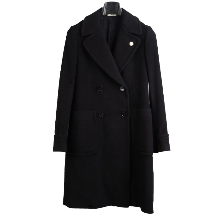 [LARDINI] WOMEN DOUBLE COAT (BLACK)