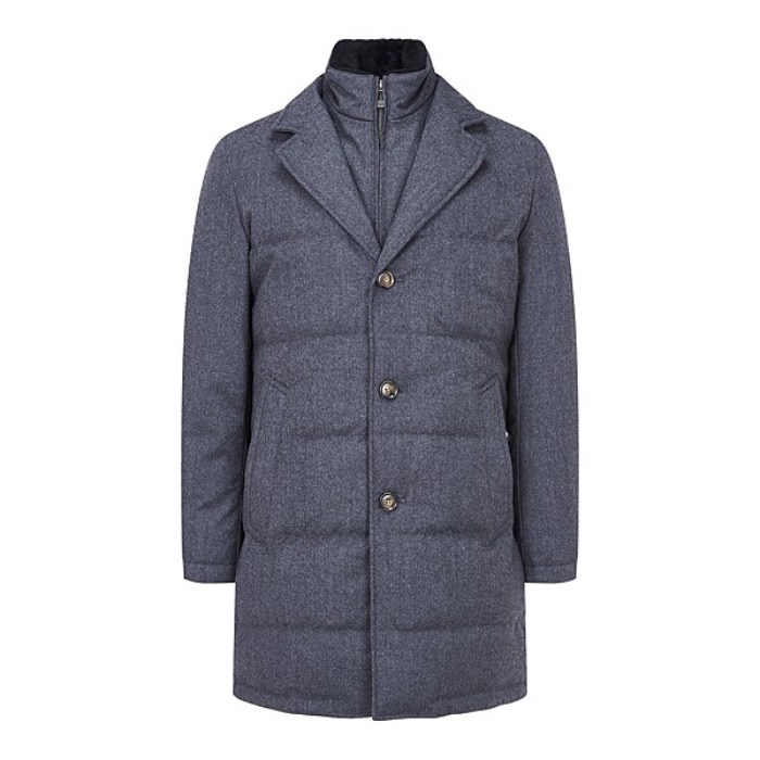 [MAN ON THE BOON] WOOL GOOSE-DOWN COAT (GREY)