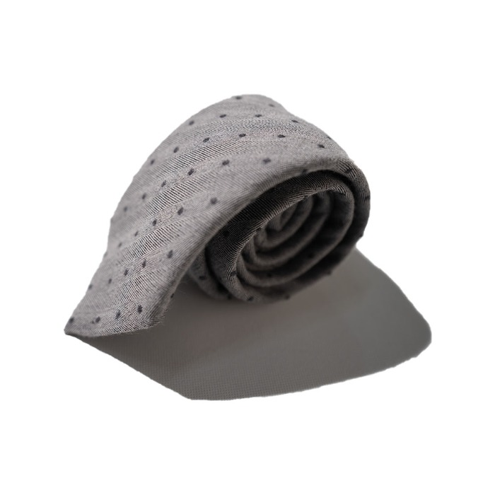 [ALAN'S] WOOL TIE (GREY)