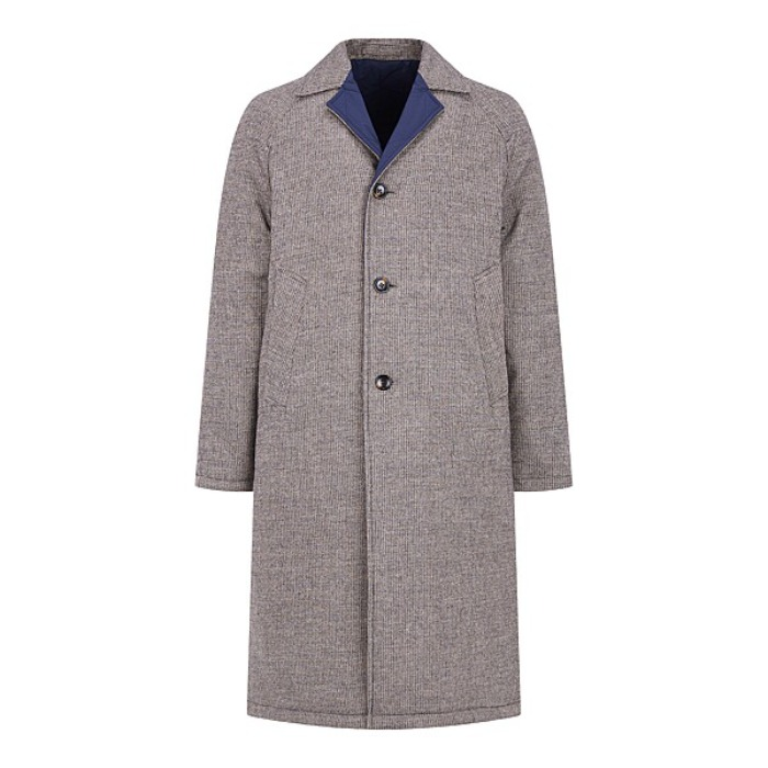 [MAN ON THE BOON] WOOL REVERSIBLE COAT (GREY)