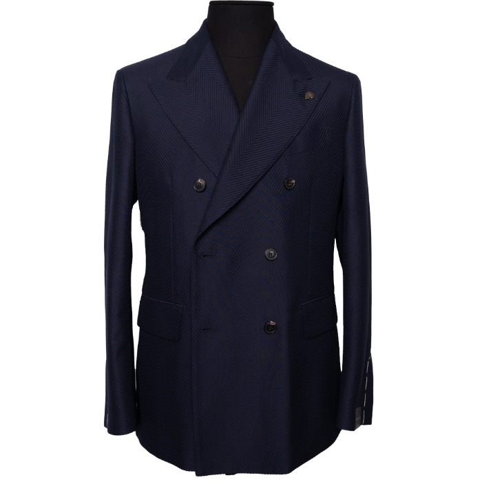 [GABRIELE PASINI] DOUBLE BREASTED JACKET (NAVY)